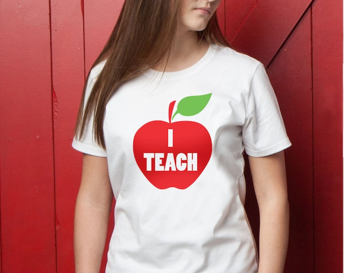 I Teach Red Apple T-Shirt
