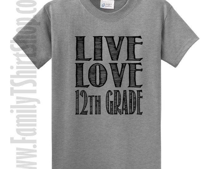 Love Love 12th Grade T-Shirt