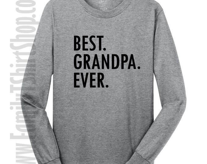 Best Grandpa Ever Long Sleeve T-shirt
