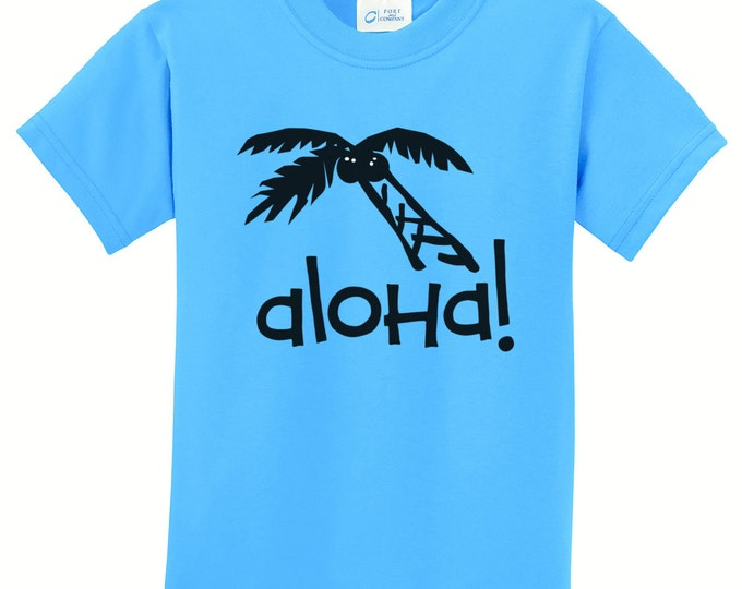 Aloha Palm Tree Hawaiian T-shirts for the Whole Family