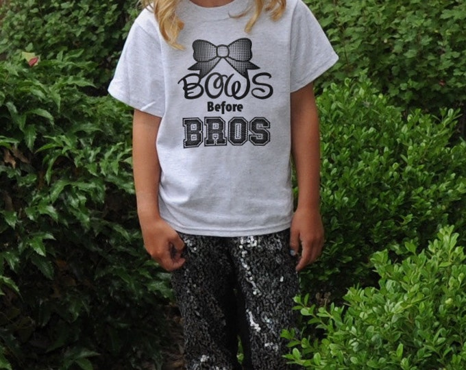 Bows Before Bros T-Shirt for Girls