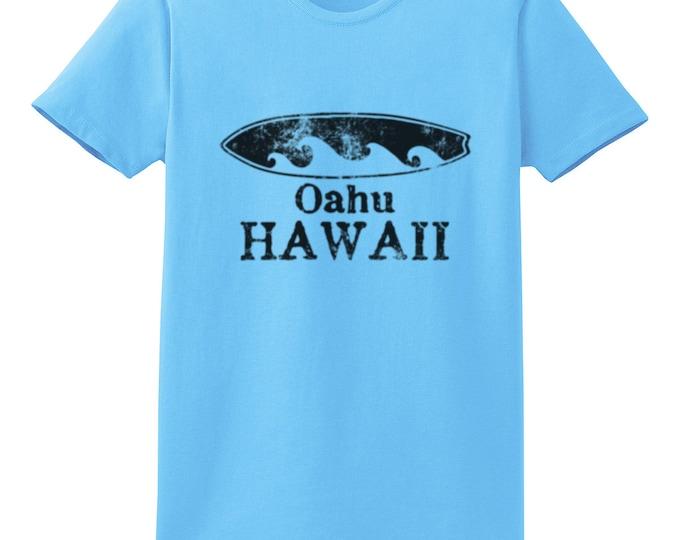 Oahu Hawaii Surfboard T-Shirt