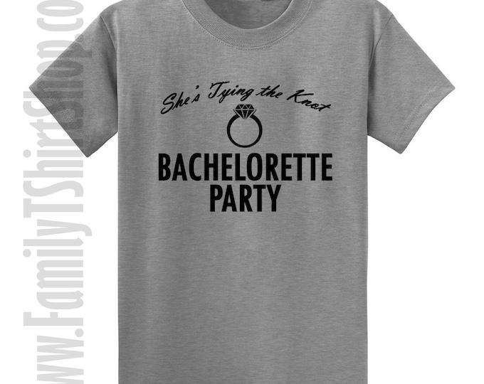 She's Tying the Knot Bachelorette Party T-Shirt