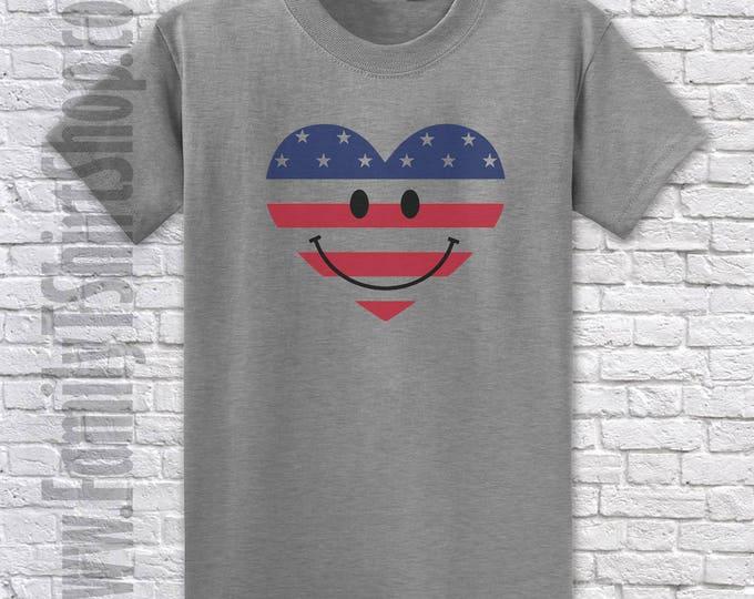 Happy Face Heart T-shirt
