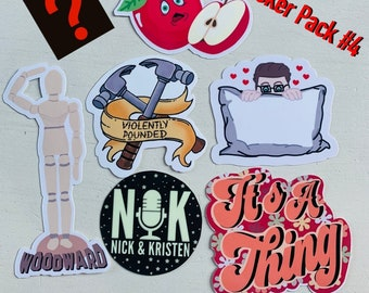 Nick & Kristen Sticker Pack #4