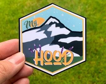 Pacific northwest Oregon Washington state sticker, Mt Hood, PNW, Car Windows, Water Bottles, Laptop decals, Mountain Range Adventure Sticker