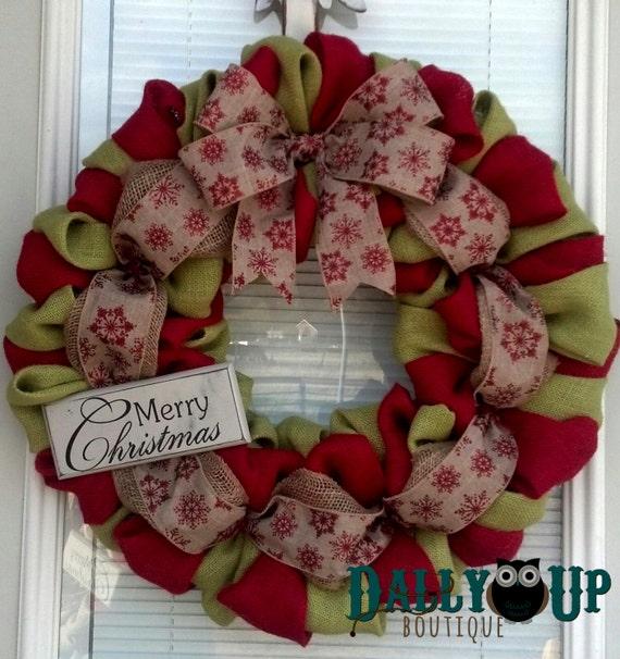 image 0 - Christmas Burlap Wreath