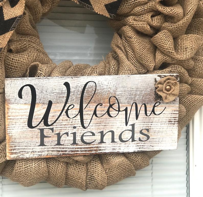 Everyday Wreath Natural Wreaths Burlap Door decor Welcome Wreath door Wreath Wreath