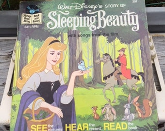 1977 Walt Disney's Story of Sleeping Beauty Book and Record