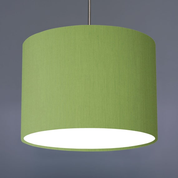 Olive Green Plain Fabric Drum Lampshade 20cm 30cm 45cm 70cm