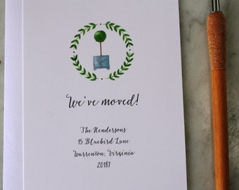 moving announcement cards new house announcement cards new address cards moving announcement new address notification cards