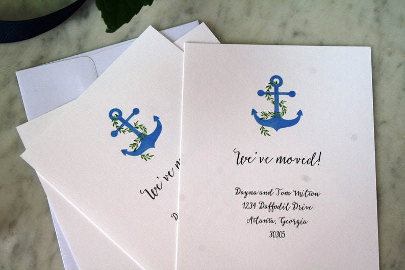 Moving announcement cards New address cards New address notification cards Moving announcement New house announcement cards