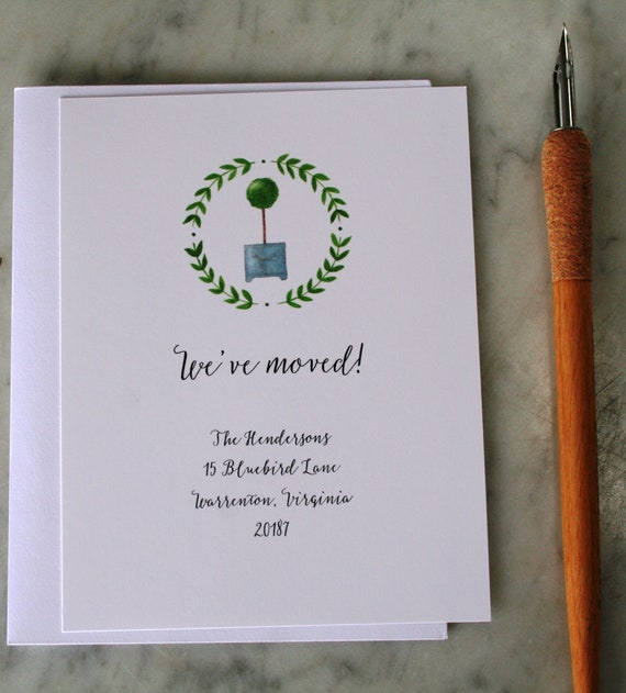 Moving Announcement Cards New House Announcement Cards New Etsy