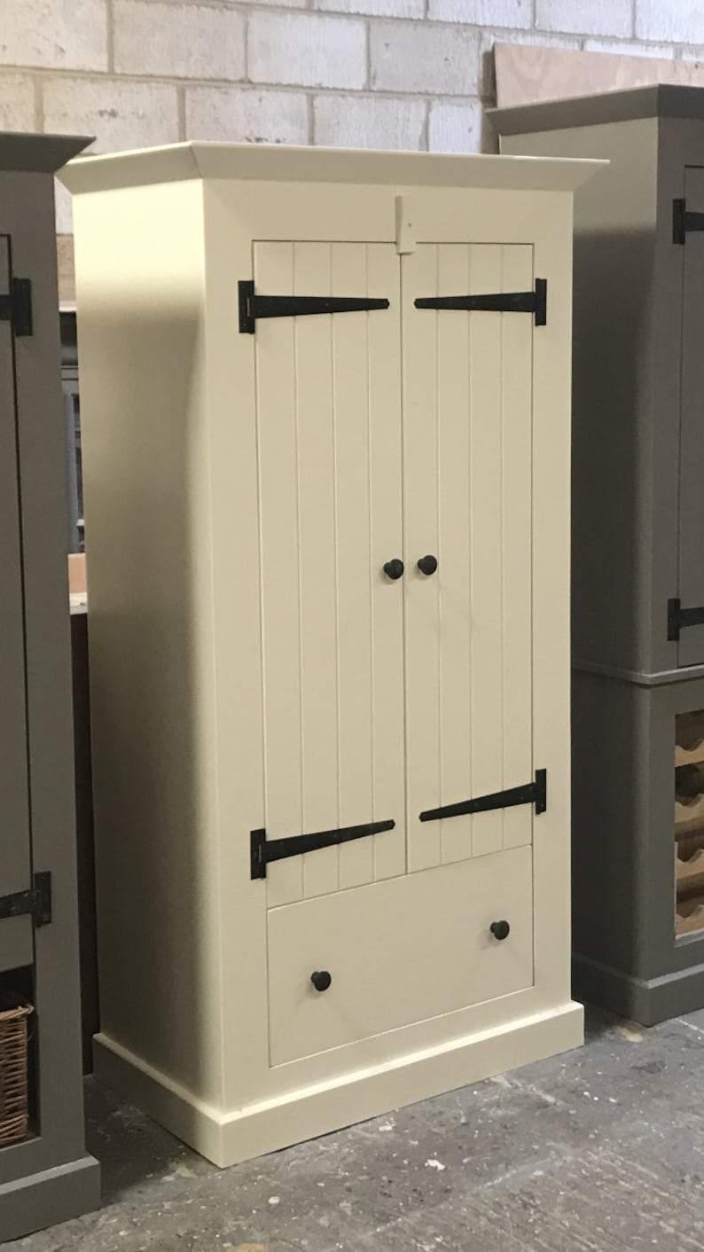 Country Industrial Farmhouse Kitchen Larder Pantry Cupboard With Drawer