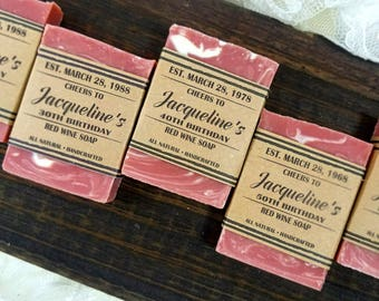 Wine Birthday Party Favors Soap Milestone For Adults 30th Women