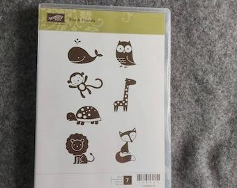 Stampin Up Rubber and Wood Mount Stamp Set Garden Whimsy  DeStash Spring Craft Cards