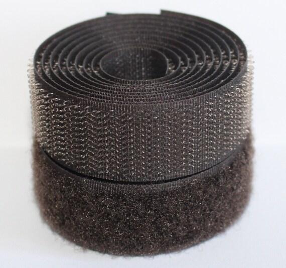 BLACK SEW On HOOK and LOOP Fastener TAPE STRAP 20mm 100mm Width ~FREE Postage~