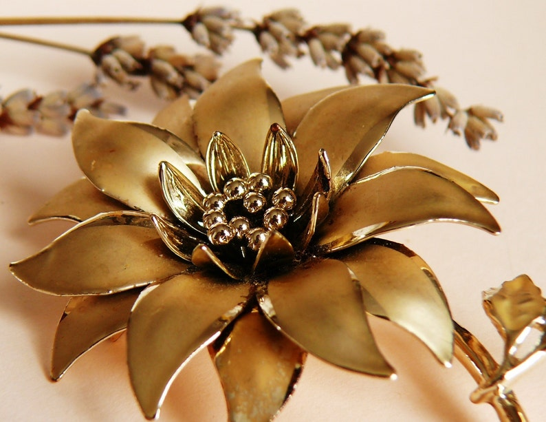 Vintage Brooch Goldtone Excellent Condition Great Accessory