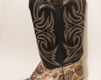 CAPEZIO snake cowboy boots 7