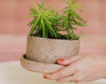 A Beautiful Mess x Etsy  Stoneware Pink Planter Set