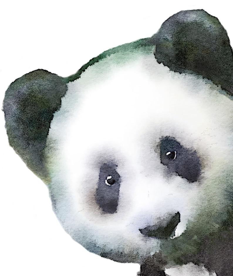 Panda Nursery Panda Wall Sticker Panda Wall Decal Watercolor Panda Panda Decal Panda Sticker