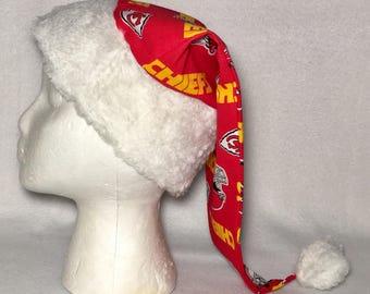 Kansas City Chiefs- Adult Size Santa Hat