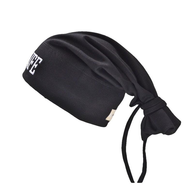 THUG LIFE Tie Beanie Black image 1