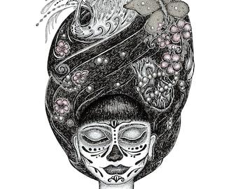 PHAM / Calavera Catrina art by Serpenthes