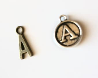 Add an Initial Charm to any bracelet purchased, silver or brass, personalized gift