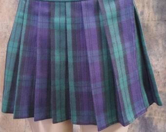 Plus Size Green, Tartan, Stewart, School Girl Plaid Skirts