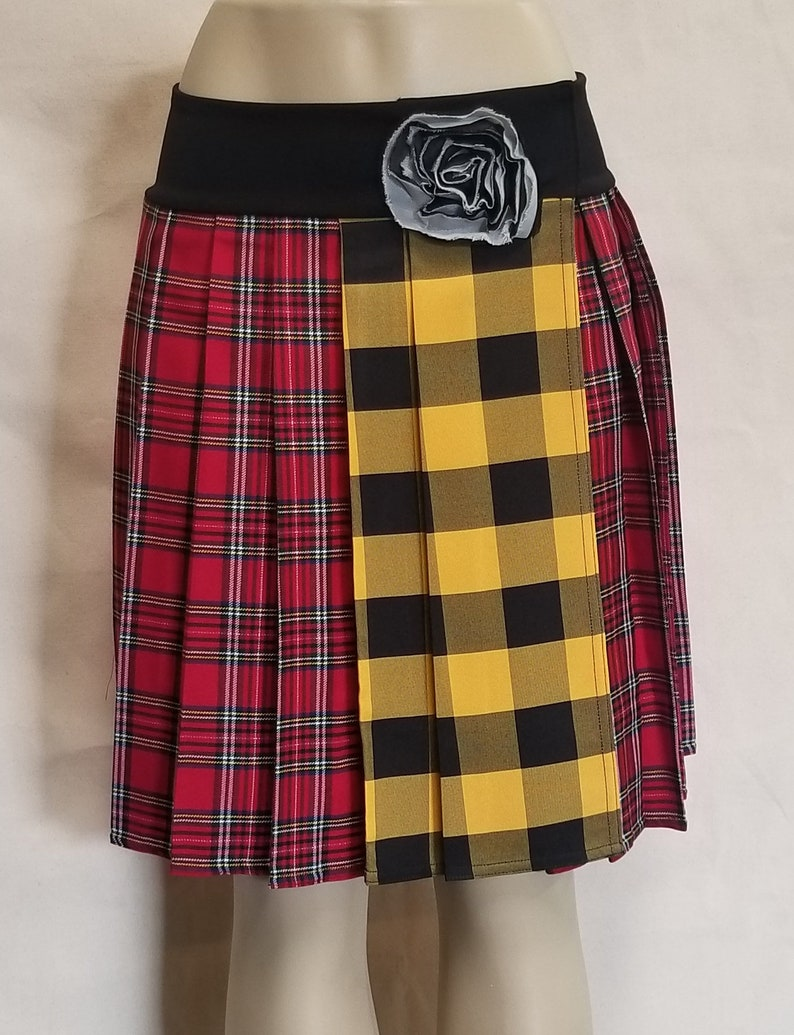 bf6e716d5 Long Red & Yellow Regular Junior Tartan Stewart School Girl | Etsy