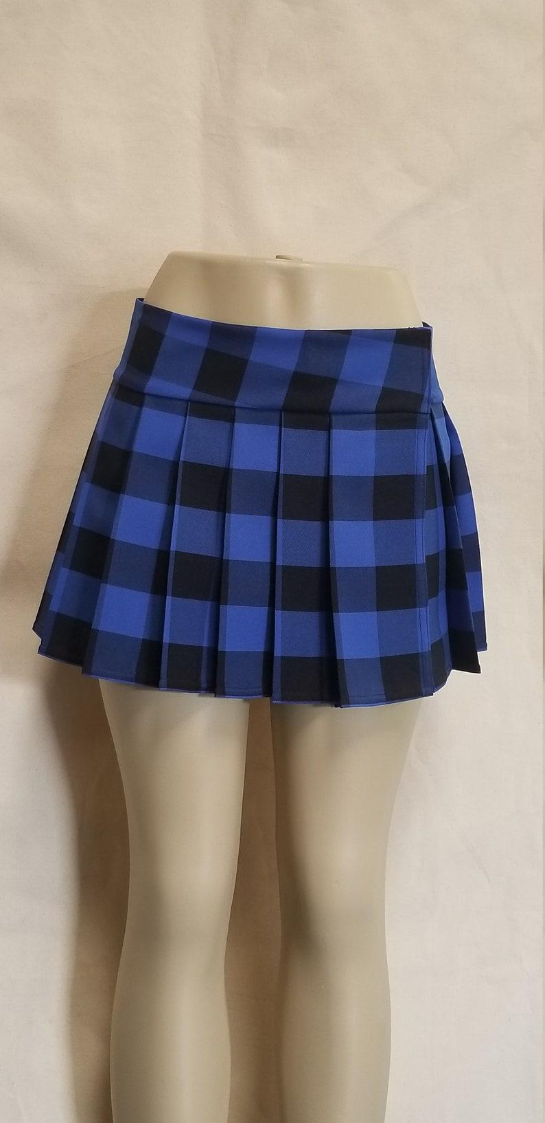 Regular Junior Blue Tartan Stewart School Girl Plaid Skirt Etsy