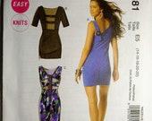 Dress Pattern McCalls 6281 DRESS sz 14-22 straight w raised waist, back interest EASY sewing pattern