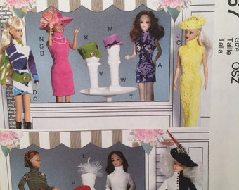 McCall's Crafts Pattern M7067 Barbie Pattern Clothing