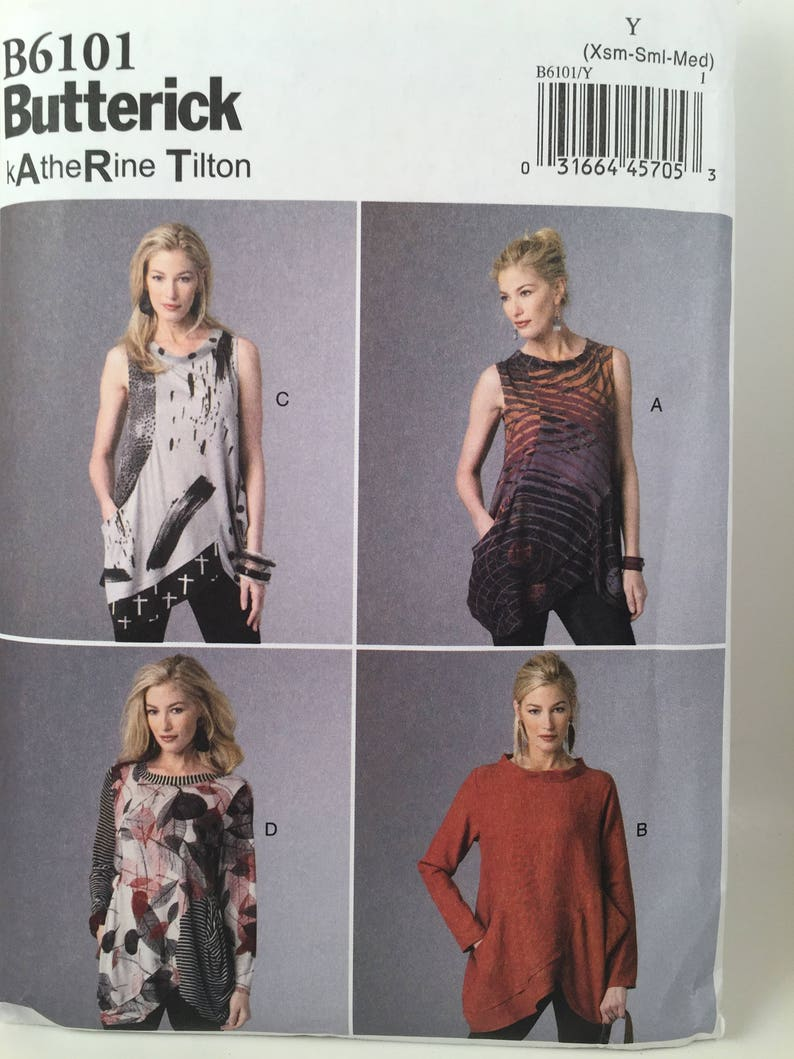 b6f54e5a0 Misses Tunic Top Butterick 6101 Sewing Pattern Loose