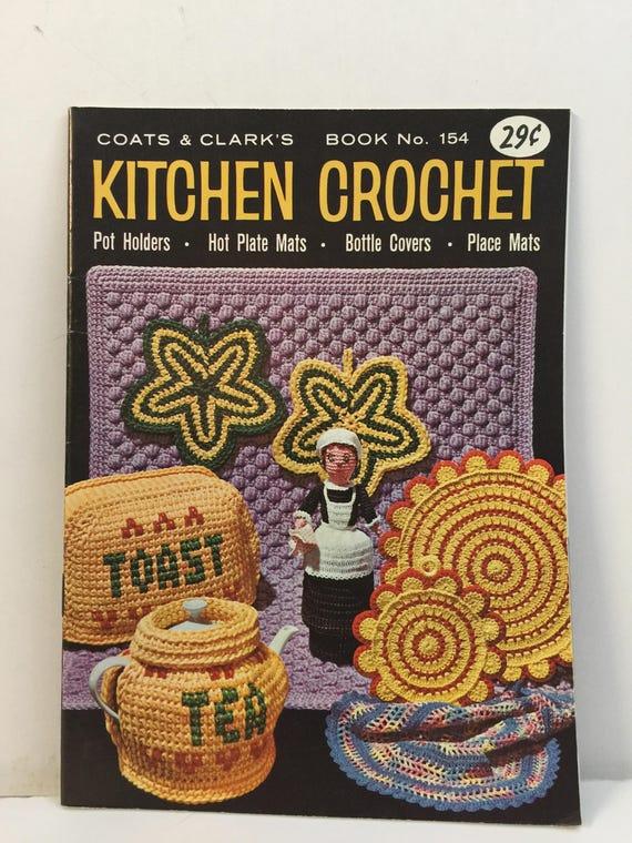 Vintage 1951 Crochet New Book of Pot Holders /& Mats Booklet Coats Clark/'s # 274