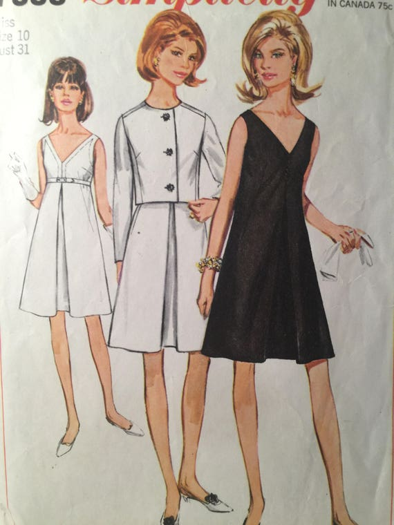 d8f0bc96405e 1960s Dress Simplicity 7390 Sewing Pattern Jacket | Etsy