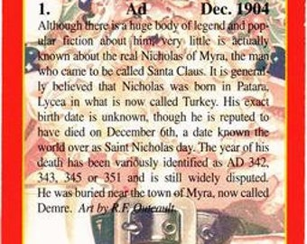 FULL SET Santa Claus Nostalgic Art Collection Trading Cards