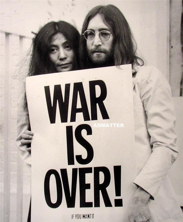 Vintage WAR IS OVER Poster John Lennon & Yoko Ono Rare Photo | Etsy