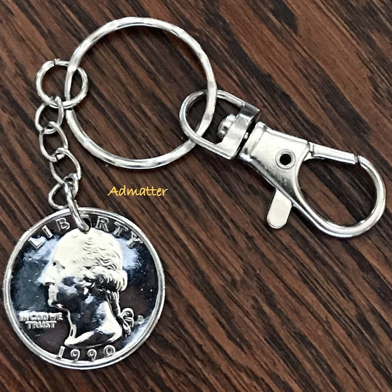 KEY RING LUCKY WHEAT PENNY KEYCHAIN PICK YOUR YEAR BIRTHDAY ANNIVERSARY GIFT