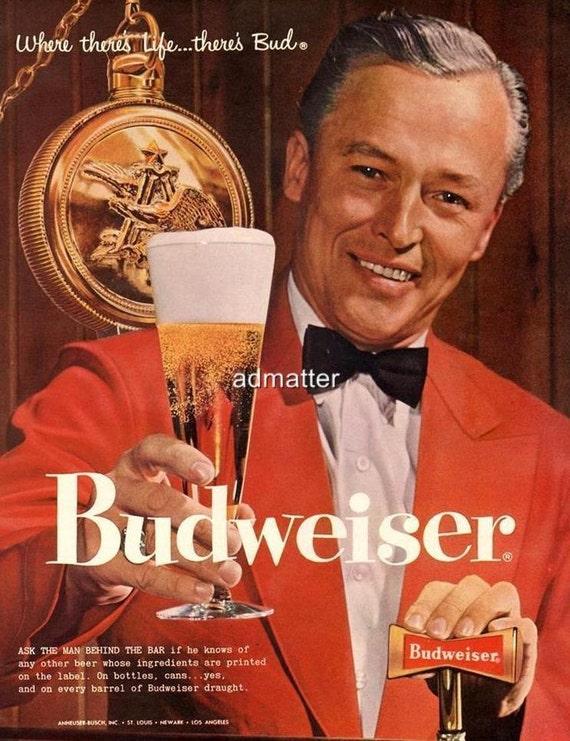 VTG Bud Man Decal 8 LOT Sticker Sheet Anheuser-Busch Budweiser BEER ADVERTISING