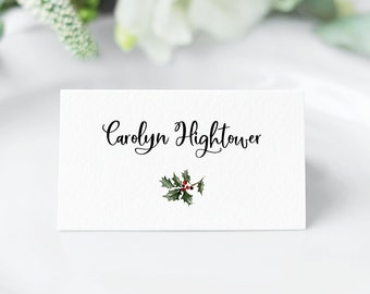 photo about Printable Christmas Place Cards identify Xmas placecards Etsy
