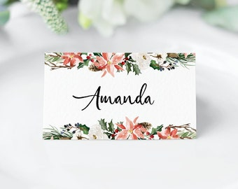 photograph regarding Printable Christmas Place Cards named Xmas placecards Etsy