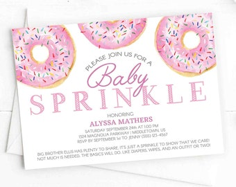 sprinkle invitation etsy