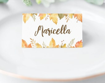 graphic relating to Printable Thanksgiving Place Cards titled Thanksgiving Room playing cards Etsy