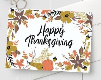thanksgiving card etsy