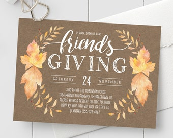 friendsgiving invite etsy