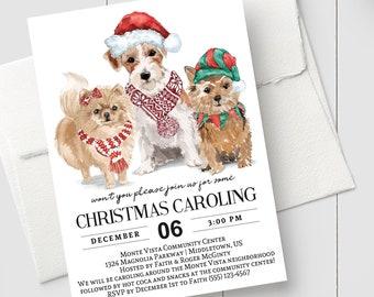 Caroling invitation | Etsy