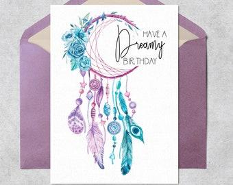 Boho Birthday Card