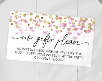 No Gifts Invitation Etsy